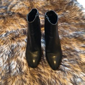 Bleach leather booties